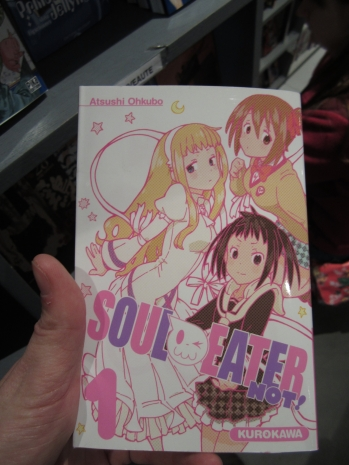 And then, I was excited to find the first volume of Soul Eater NOT! with the anime starting to air.