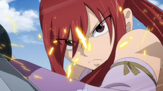 Fairy Tail Episode 9 Erza Fighting