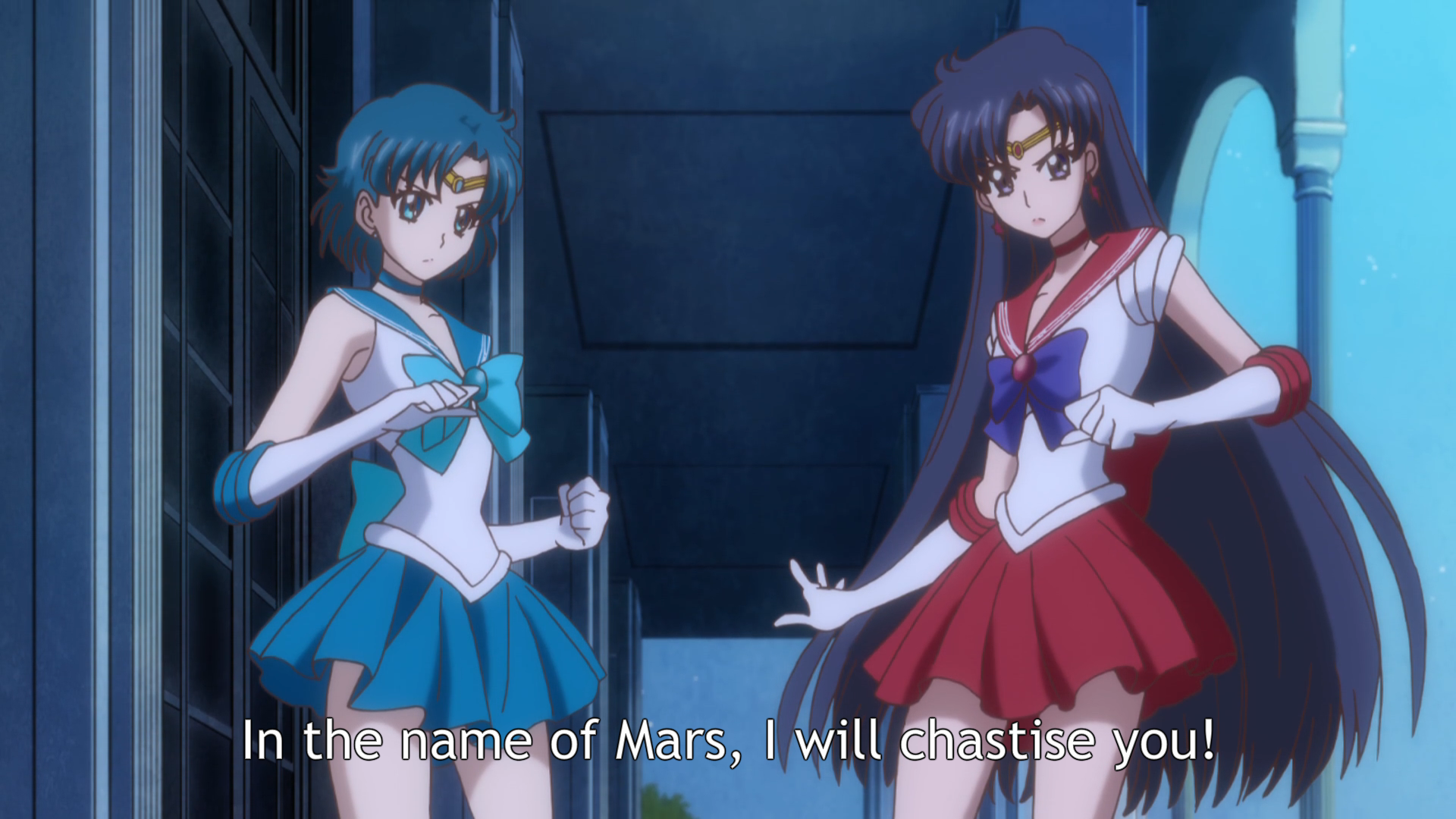 Sailor Moon Crystal Episodio 4 Mercurio e Marte Mago in A-9319