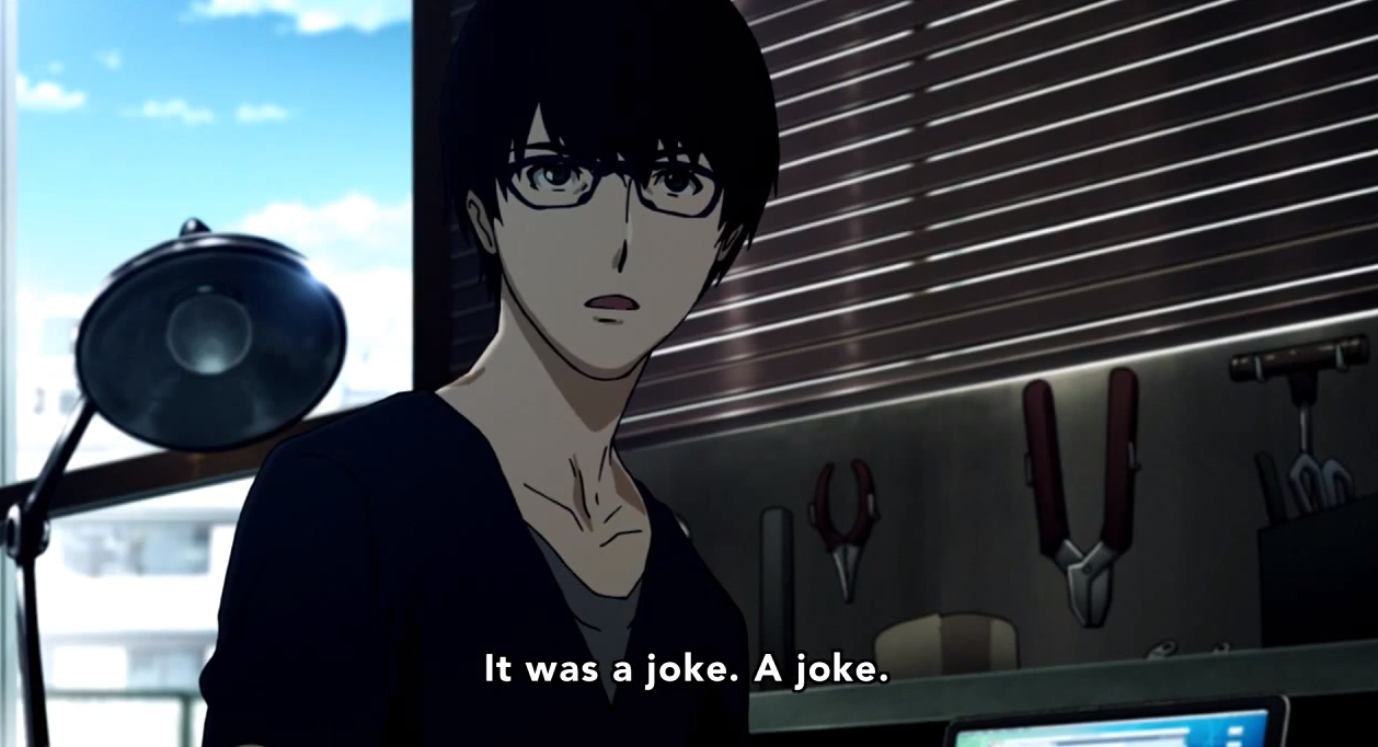 Zankyou no Terror, Episode 5 | Mage in a Barrel